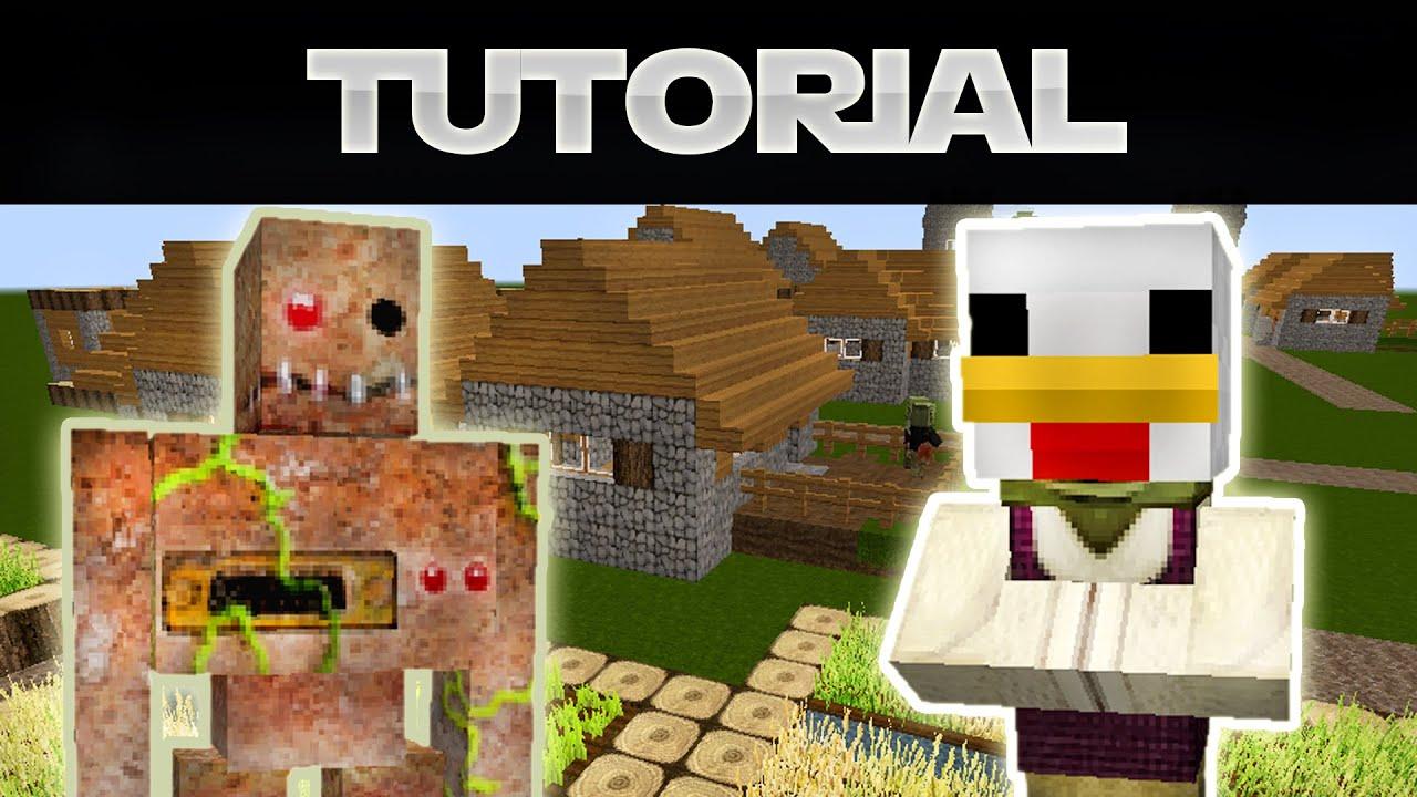 ALLES über VILLAGER In Minecraft Dorfbewohner YouTube - Minecraft dorfbewohner bauen hauser mod