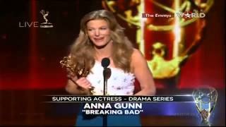 EMMYS 2014 - Anna Gunn WINS EMMY AWARD FOR SUPPORTING ACTRESS IN A DRAMA SERIES [HD]