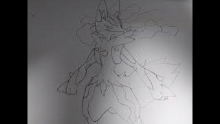 포켓몬스터의 메가 루카리오 손그림/Pocket Mons…
