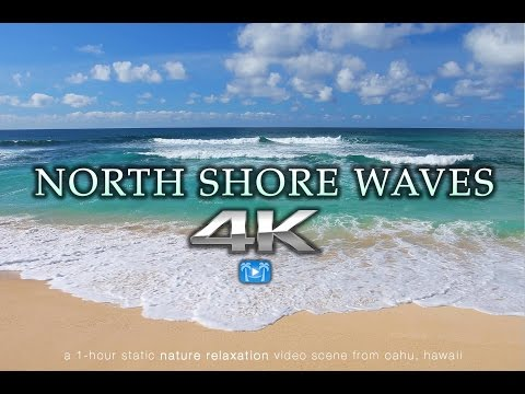 4K NORTH SHORE WAVES Oahu Endless Video Screensaver | Nature Relaxation™ Hawaii