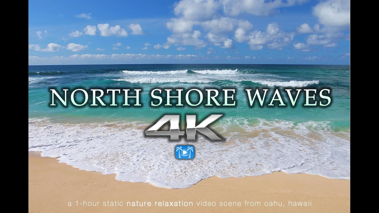 Stress less coloring by the shore - 4k North Shore Waves Oahu Endless Video Screensaver Nature Relaxation Hawaii Youtube