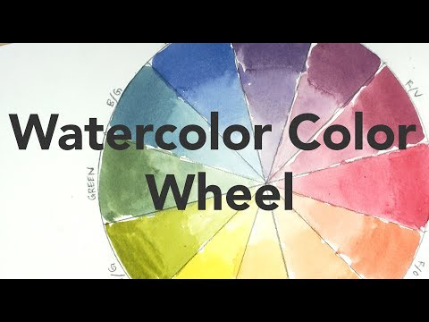 Color mixing lesson for beginners - the Watercolor Color Wheel