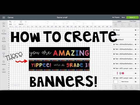 """How to Create the """"You Are Amazing"""" and """"Yippee! We're in grade 3!"""" banners with your Cricut"""