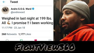 ANDRE WARD PLANS 2018 RETURN? CRUIERWEIGHT? HEAVYWEIGHT? RETIREMENT PLOY WAS TO GAIN WEIGHT!