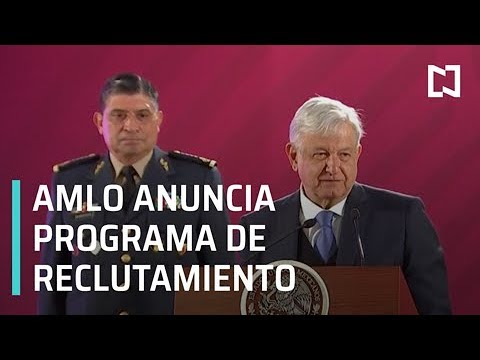 AMLO anuncia arranque de reclutamiento de jóvenes para Guardia Nacional - Despierta con Loret