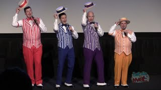 Dapper Dans sing boy bands One Direction, Backstreet Boys for Disney World Limited Time Magic