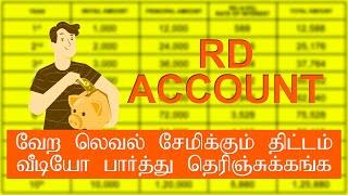 RD Account in tamil | Recurring deposit | Future plan | in tamil