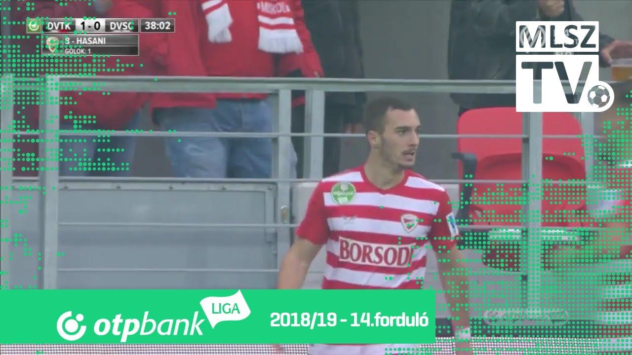 Hasani Florent gólja a DVTK - DVSC mérkőzésen