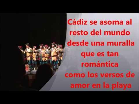 """Pasodoble de los Trovadores """"Cádiz se asoma"""" Letra, lyrics y karaoke"""