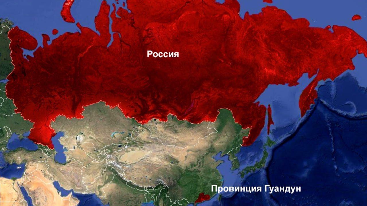по размерам территории россия занимает место