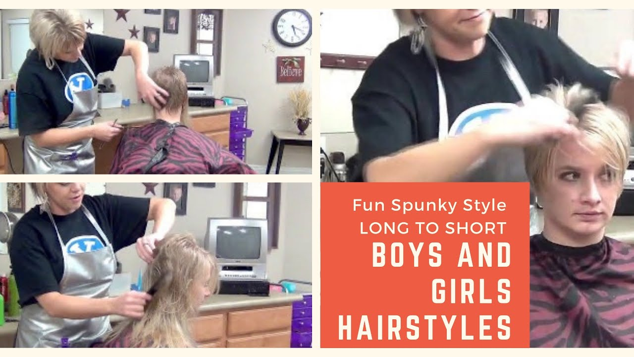 Long Hair (Ladies Haircut) To Short Hairstyles - YouTube