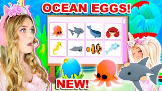 *NEW* OCEAN EGGS PET UPDATE IN ADOPT ME! (ROBLOX)