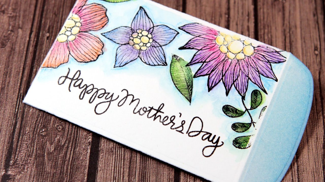 Mothers Day Gift Card Envelope Color Wednesday 41 Inktense
