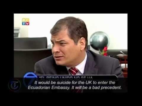 Ecuador's President Correa: 'suicide' for UK to enter embassy for Julian Assange