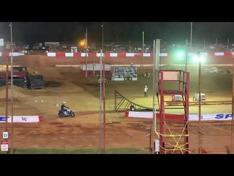 Dirt bike vs ATV at Dixie Speedway