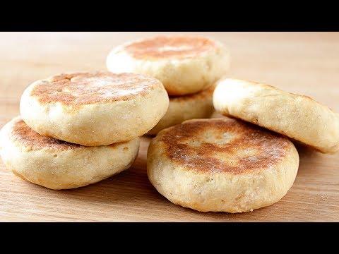 Pan sin horno hecho en sartén ¡Solo 2 ingredientes!