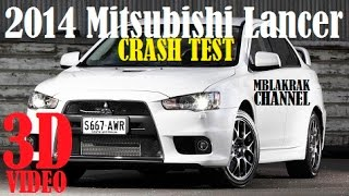 2014 Mitsubishi Lancer IIHS Crash Test [3D]