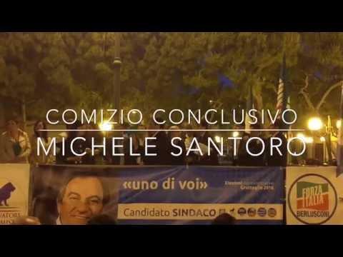Comizio chiusura campagna elettorale Michele Santoro