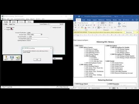 Tutorial Myob V18. Membuat akun, Edit akun, Hapus akun Serta Menginput Jurnal Entry.