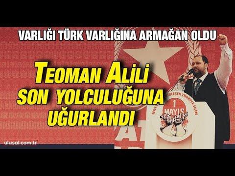 Varlığı Türk varlığına armağan oldu: Teoman Alili son yolculuğuna uğurlandı