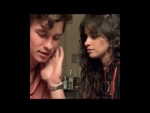 Camila Cabello and Shawn Mendes kissing