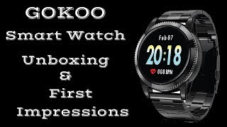 GOKOO Smartwatch Unboxing & First Impressions