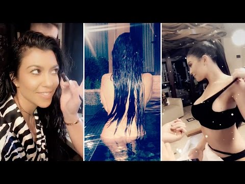Kourtney Kardashian | Snapchat Videos | January 29th 2017 | ft Kylie Jenner & Khloe Kardashian