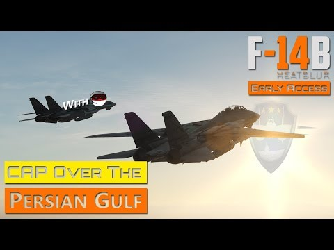 DCS World - F-14 Tomcat by Heatblur Simulations - CAP Mission with ralfidude over Persian Gulf