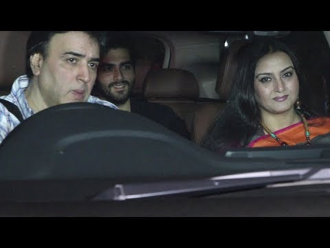 Sumeet Saigal With Wife Farah Naaz & Others At Gully Boy Movie Special Screening