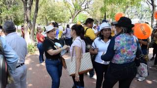 Concentración de los docentes en el parque San Miguel #Paro #Fecode