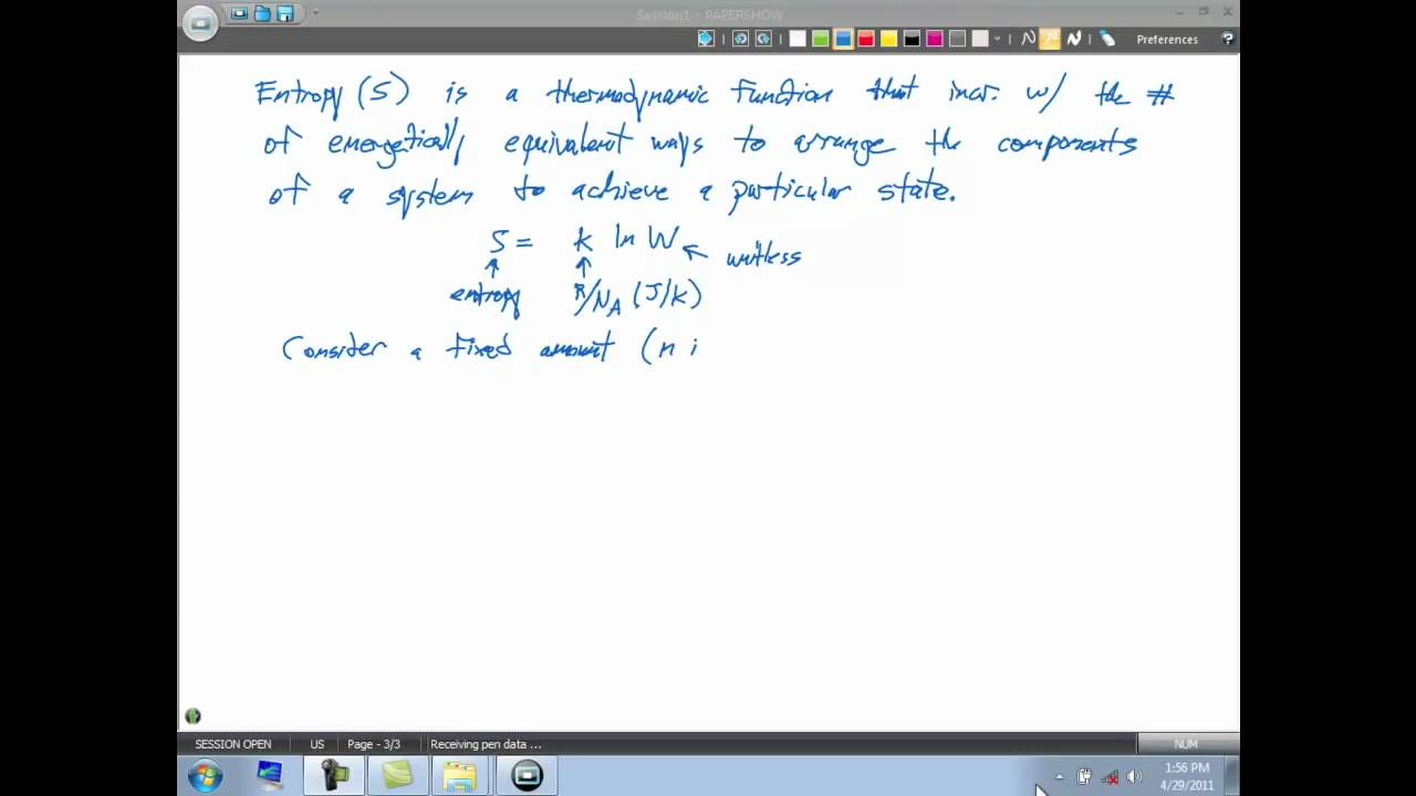 Download 19.2 Mathematical Definition of Entropy