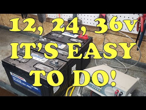 How to Properly Wire 12v, 24v & 36 Volt Trolling Motor Batteries In Your Boat (Series vs. Parallel)