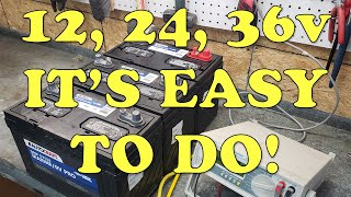 How To Properly Wire 12v 24v 36 Volt Trolling Motor Batteries In Your Boat Series Vs Parallel Youtube