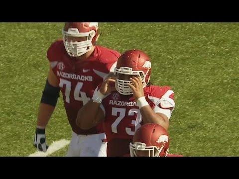 "Watch Arkansas Lineman Make Week 9's ""Biggest"" Score | CampusInsiders"