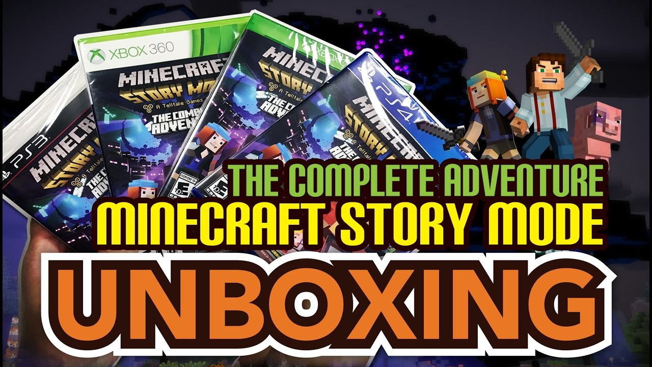 Minecraft Story Mode The Complete Adventure (PS4/PS3/Xbox 360/Xbox One)  Unboxing !!