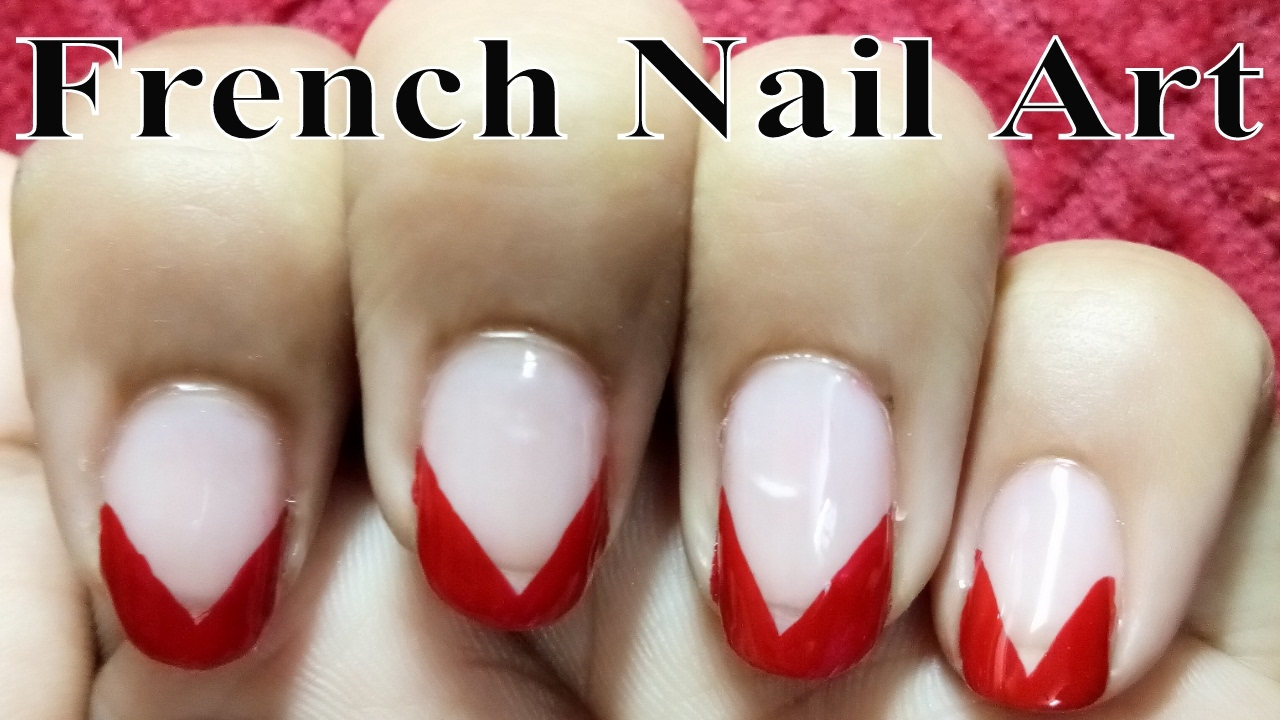 Cute French Nail Polish Design Ideas At Home For Short Nails - YouTube