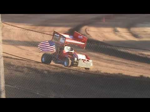Cottage Grove Speedway, September 10, 2016, Street Legal Sprint Car Pushing Cars Off & Track Packing