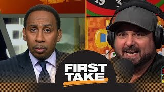First Take debates Dan Le Batard Show on Michael Jordan's Bulls vs  Steph Curry's Warriors | ESPN