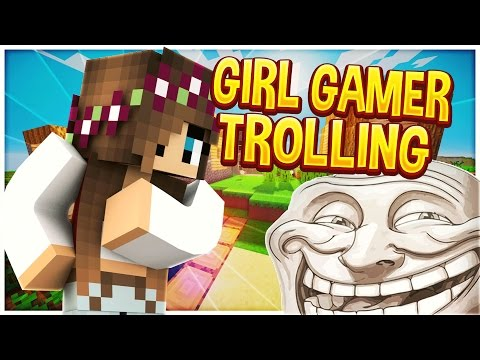 TROLLING GIRL GAMER V3 (Minecraft Trolling)