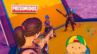 Noobs Boast of Exclusive Skins and End Up Singing Caillou😂😅 Fortnite