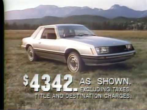 1979 Ford Mustang TV Ad Commercial 1 of 3  YouTube
