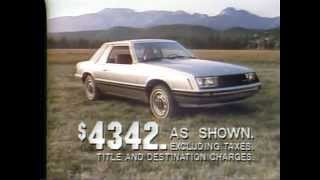1979 Ford Mustang TV Ad Commercial 1 of 3