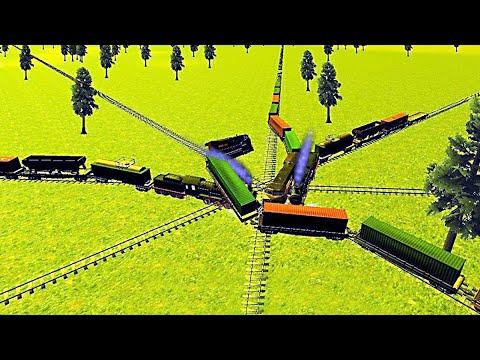 Crash of Trains Railroad Sim - Crash The Train |