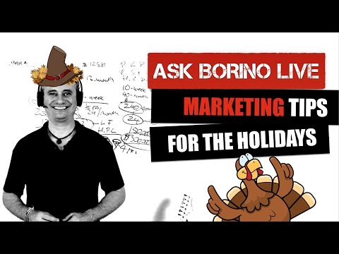 Real Estate Marketing Tips For The Holidays - Ask Borino Live Coaching