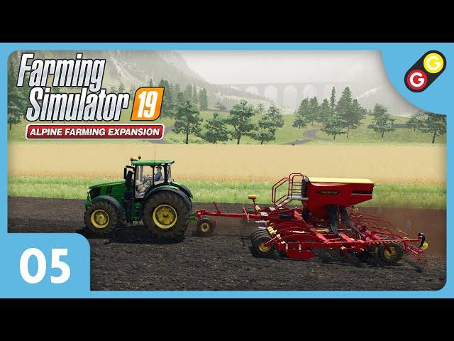 Farming Simulator 19 - Extension Alpine #05 On sème notre premier champ ! [FR]