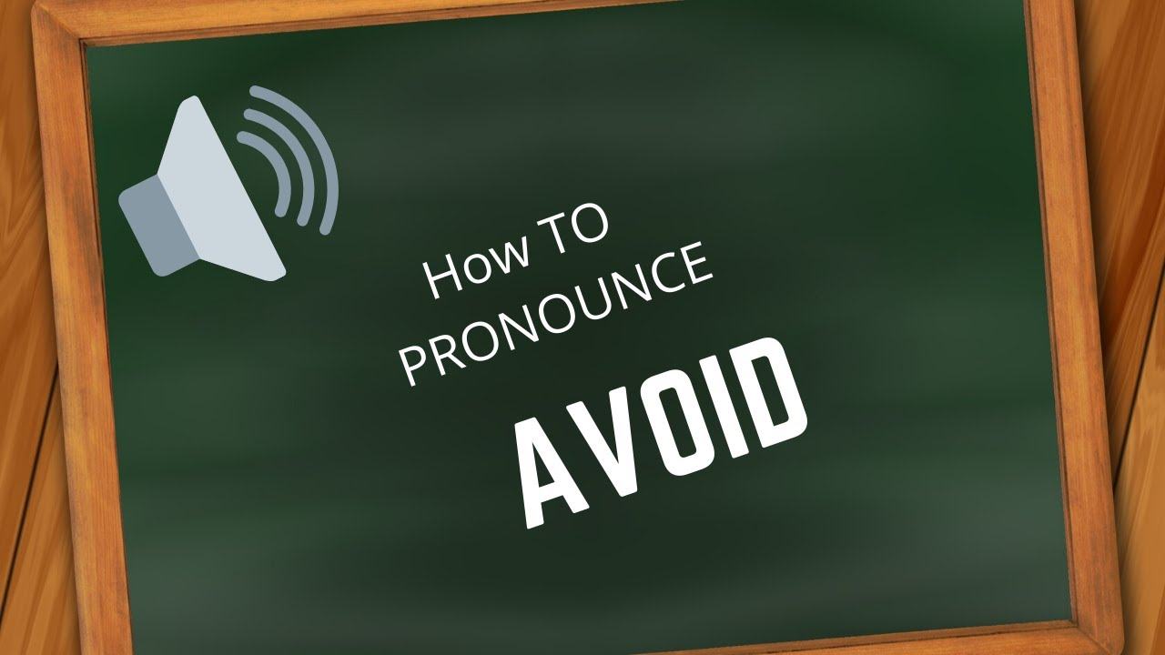 How to pronounce AVOID - YouTube