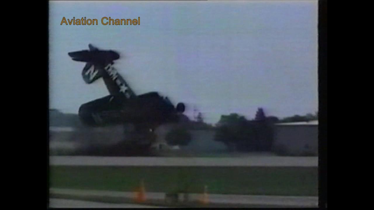Vought F4U Corsair Crash on take off
