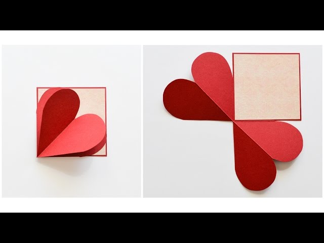 How to Make - Pop-Up Greeting Card Heart Love - Step by Step DIY | Kartka Serce