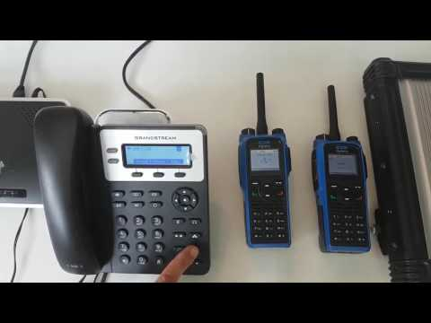 Private call from SIP phone to Hytera Digital Radios