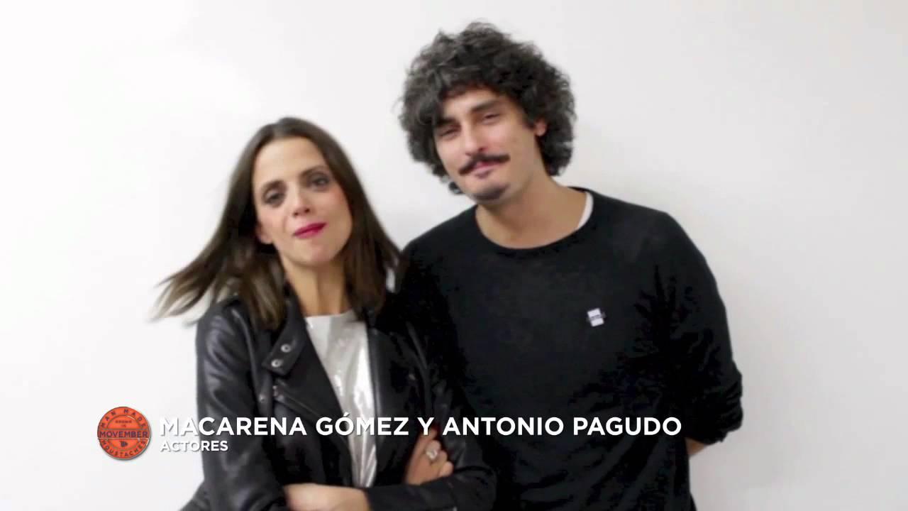 Macarena Gómez y Antonio Pagudo apoyan a Movember